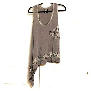 Disney Couture Gray tank top Medium